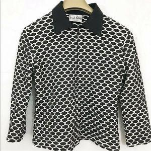 Joseph Ribkoff Top Jacket Textured Polka Dot